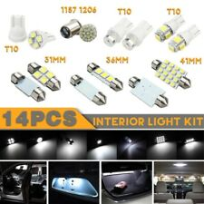 14X White LED Interior Package Kit For T10 36mm Map Dome License Plate Light scd
