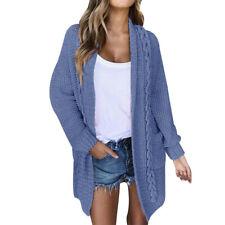 Women Chunky Knitted Cardigan Warm Sweater Coat Jackets Jumper Outwear Ladies CP