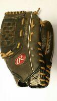"Rawlings RBG 36B 12 1/2"" Baseball Glove  (RHT) Black Leather Shell"