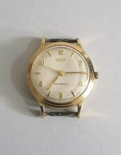 AUTOMATIC TISSOT VINTAGE 9CT SOLID GOLD WRISTWATCH.      W.O.      BIRM. 1982.