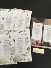 FRESH BRAND - Sample LOT x 6 Soy Face Cleanser Black Tea Lotion & Firming Corset