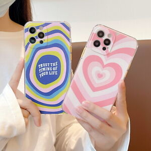 For iPhone 12 Pro Max 11 XS XR 8 7 Plus Cute Love Heart Silicone Back Case Cover