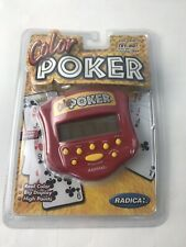 NEW Poker Handheld Color Electronic Video Game 1999 Factory Sealed