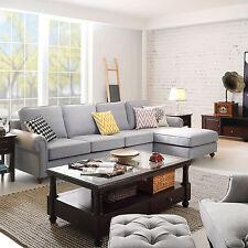 Morden Home Furniture Sectional Corner Sofa Indoor Lounge Decor Sofa Bed Gray