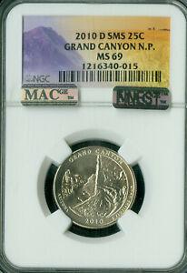 2010-D GRAND CANYON LOGO QUARTER NGC MS69 SMS PQ MAC FINEST MAC SPOTLESS .