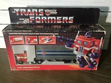 Transformers G1 Optimus PriMe With Box And Instructions 1984 Pre