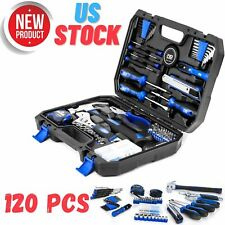 Household Maintenance 120 Piece Home Repair Mechanics Hand Tool Kit Storage Case