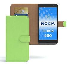 Custodia per Nokia/Microsoft Lumia 650 CASE WALLET GUSCIO PROTETTIVO COVER VERDE