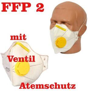 FFP2 Atemschutzmaske Mundschutz Feinstaubmaske Halbmaske Maske mit Ventil Micron