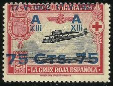EDIFIL 390* 75c. sobre 25c.  1927  XXV Aniv.de la Coronación de Alfonso XIII