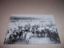 1905 BUFFALO BILL with WILD WEST MEMBERS, REPRO POSTCARD