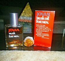 Jovan musk oil cologne for men vintage new in box made in England 2 oz