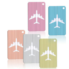 1x Brushed Aluminium Luggage Tags Suitcase Label Address ID Baggage Tag Travel