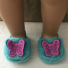 "Authentic American Girl Doll Shoes Slippers with Butterfly for 18"" Doll"