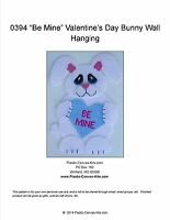 Be Mine Valentine's Day Bunny Rabbit Wall Hanging-Plastic Canvas Pattern or Kit