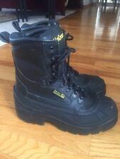 LaCrosse Boots 29921  Black Waterproof Leather Steel Toe & Midsole Sz 8 Mint!