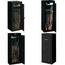 Firearm Storage Cabinet Gun Security Rifle Shotgun Rack Steel Black Safe 3 Sizes