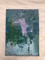 HASWORLD- ORIGINAL ACRYLIC PAINTING CANVAS Abstract Expressionism Clouds Art