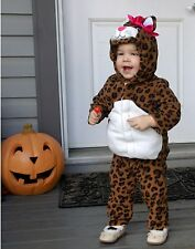 NWT GIRL OLD NAVY LEOPARD SPOTTED CAT HALLOWEEN COSTUME 12-24 18 MONTHS PINK BOW