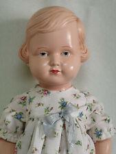 Hermosas viejas celba cellba muñeca pelo claro Celluloid pie muñeca 35 cm