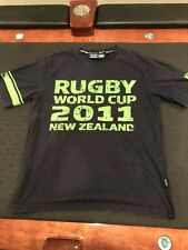 RUGBY World Cup 2011 New Zealand T-Shirt jersey #11 Black Rugby Shirt Top
