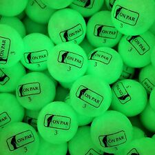 12 On Par Glow V1 Golf Balls Glow in the Dark UV Golfballs with Free Torch!
