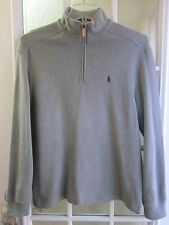 Polo by Ralph Lauren Gray Color 1/3 Zip Up Mock/N Long/S Shirt Men M **Pristine*
