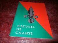 LEGION  CAVALERIE    Recueil de Chants  Les Lieutenants du 1°REC   CAMERONE 1981