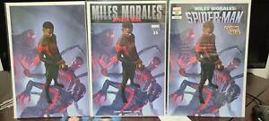 Miles Morales Spider-Man #25 Rahzzah virgin ultimate fallout 4 homage Set NM