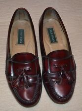 men's COLE HAAN Genuine Leather Shoes  Slip-on Loafer  10 D  BLACK/MAHOGANY