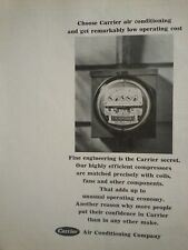 1965 Carrier Air Conditioning Low Operating Cost Original  Ad