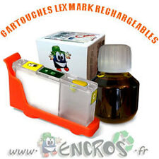RECHARGEABLE-  Kit Cartouche Rechargeable LEXMARK 100 Yellow Garantie ENCROS