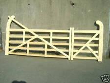 Wooden Five Bar Drive Gates  Hookback Made to Measure