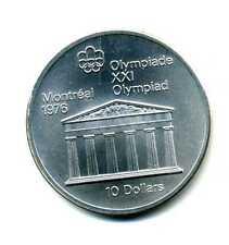 10 Dollars Kanada 1974 Olympiade Montreal 1976 Zeustempel Silber M_437