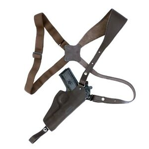 Shoulder holster for Tokarev, Zastava M57, Romanian TTC,  leather, brown