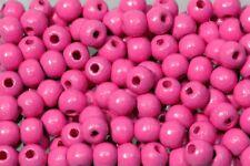 Holzperlen 10mm rosa, glänzend, 500 Stück