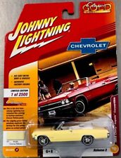 JOHNNY LIGHTNING CLASSIC GOLD 1965 CHEVY IMPALA CONVERTIBLE RR TIRES RELEASE 2.