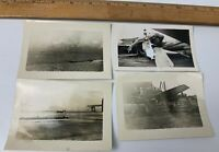 Lot of 4 WWII Photos US Navy Aircraft Plane Catalina PBY Wreckage Accident