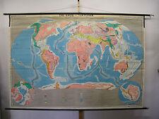 Bella vecchia scheda crocifissi Mappa del mondo terra TEKTONIK vulcani del nord + POLO SUD 243x167
