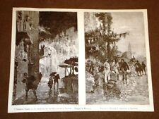 Natale a Napoli nel 1881 Spari per le vie e Venditori di capitone