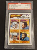 1982 Topps #243 Seattle Seahawks Team Leaders, PSA 10 / GEM MINT