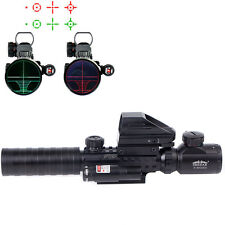 Hot 3-9X32 EG Tactical Rifle Scope Sight with Holographic 4 Reticle Red Laser