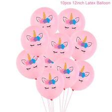 Gift 10PCS Cute Unicorn Balloons Latex Balloon Birthday Party Supply Kids Toys