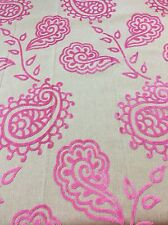 REM Fabric Curtain Cushion Craft 135x110cm Pink Reversible Velvet