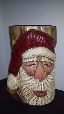 Original Folk Art Kathy Ravenberg Wood Hand Carved Santa Christmas Slc 12x6x7