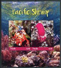 Tuvalu 2018 MNH Pacific Shrimp Peacock Mantis Shrimp 2v S/S Marine Stamps