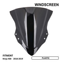 Black Windshield WindScreen Screen Protector For Ninja400 2018 2019 Motorcycle