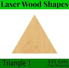 Triangle 1 Laser Cut Out Wood Shape Craft Supply - Woodcraft Cutout