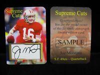 Joe Montana Supreme Cuts Embossed Facsimile Autograph Card