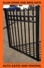 Alum Swing Single Gate  /Front gate Spear and Ring Top  1.2m X1m(w)